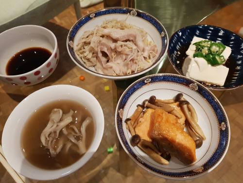与沢翼氏6月14日の夕食
