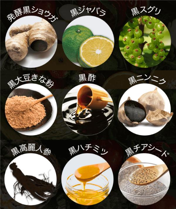 KUROJIRUの美容成分